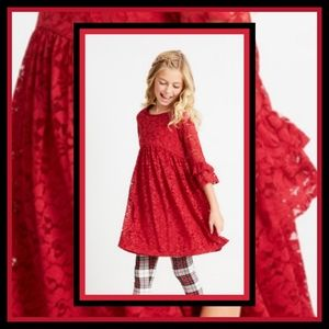 New! Fabkids Bell Sleeve Lace Dress